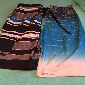 2 men's bathing suits